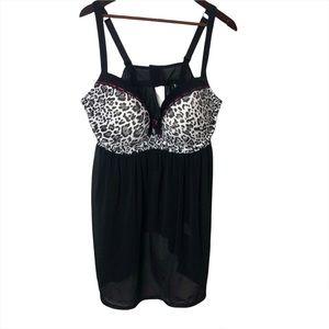 Size 2x Addition Elle black sheer lingerie